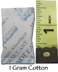 1 Gram Silica Gel Packet - Cotton