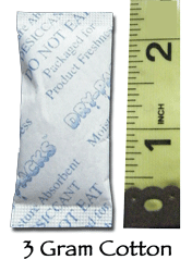 3 Gram Silica Gel Packet - Cotton