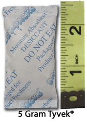 5 Gram (1/6 Unit) Silica Gel Packet - Tyvek®