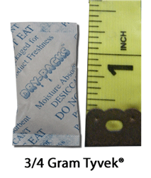3/4 Gram Silica Gel Packet - Tyvek®