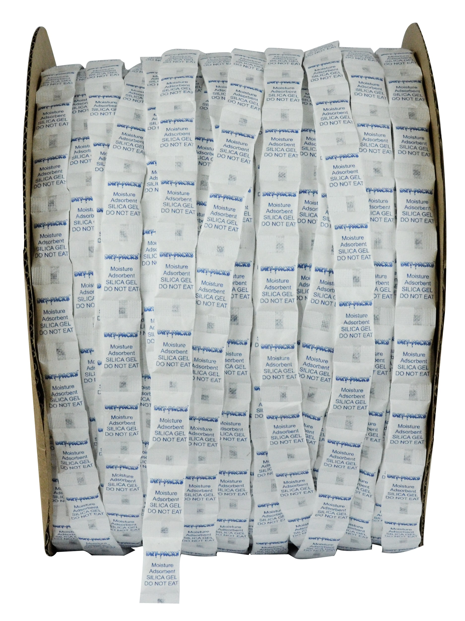 1/2 Gram Continuous Strip Pillow Packets Silica Gel - Tyvek - Roll of 12,000