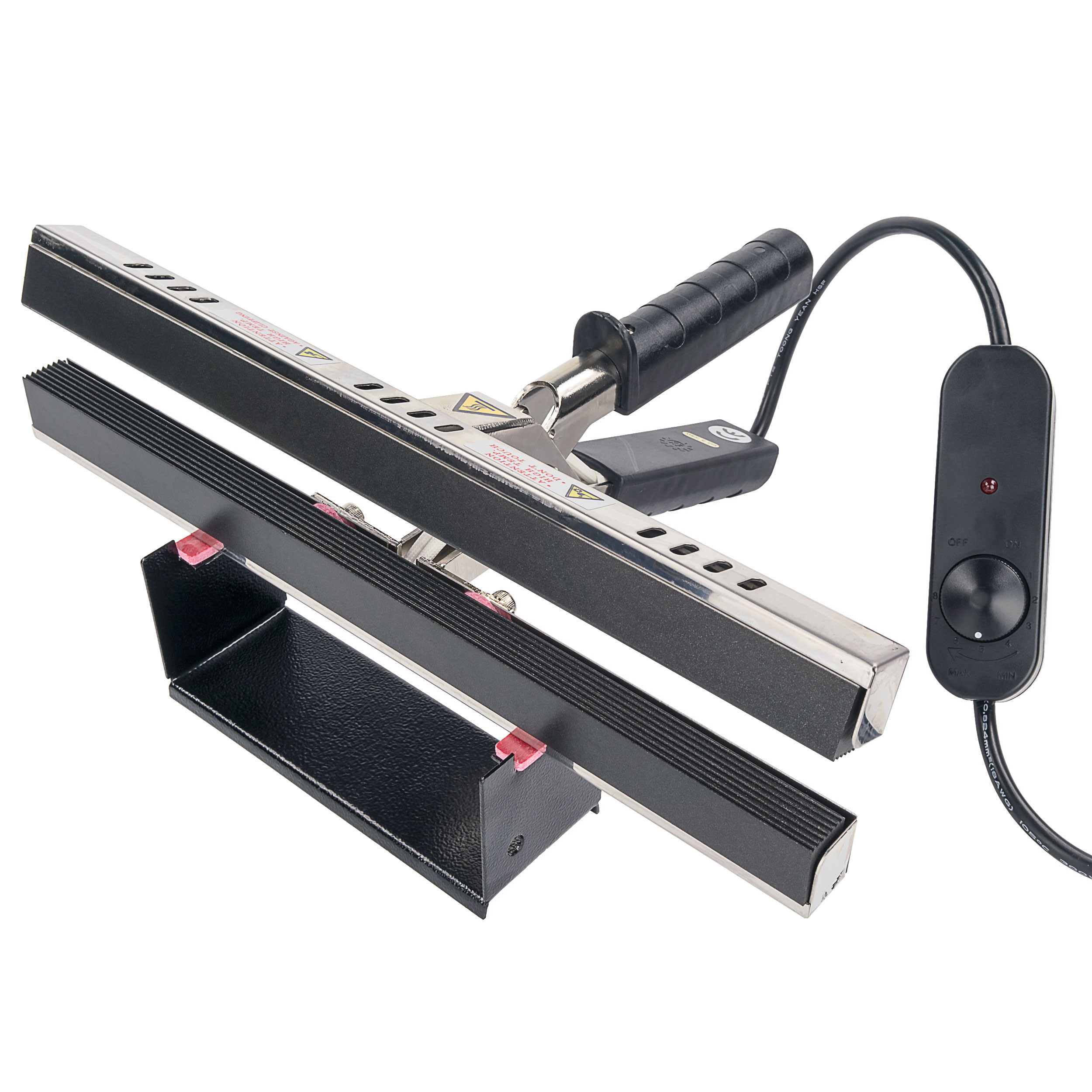 "12"" Portable Hand Crimper Sealer Constant Heat For Poly or Mylar / Foil Bags"