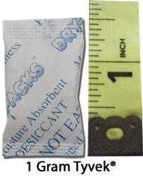 1 Gram Silica Gel Packet - Tyvek®