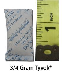3/4 Gram Silica Gel Packet - Tyvek®