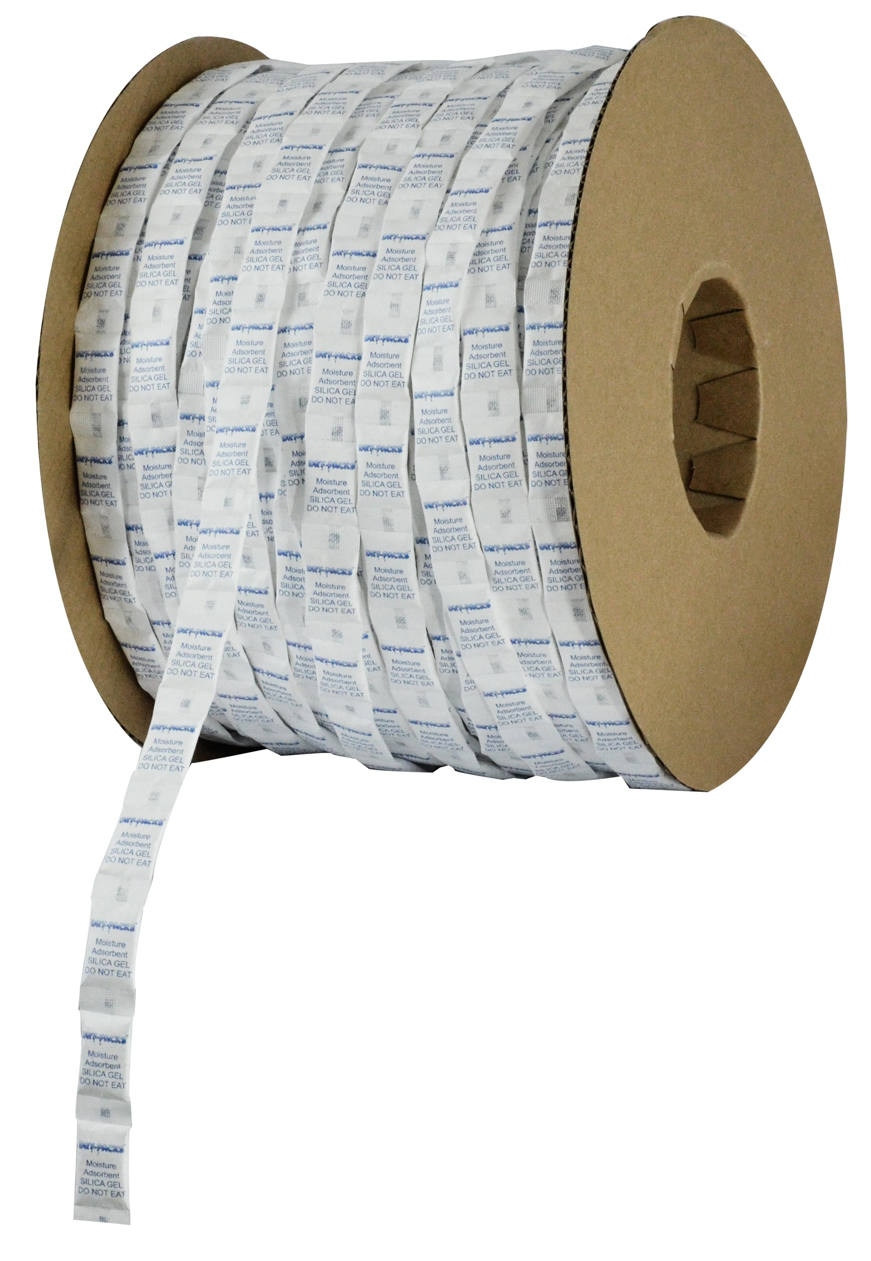 1 Gram Continuous Strip Pillow Packets Silica Gel - Cotton - Roll of 3000